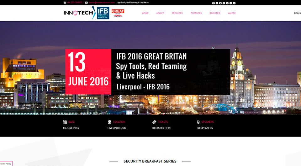 Evento IFB 2016 - Liverpool